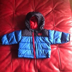 North face baby puffer coat
